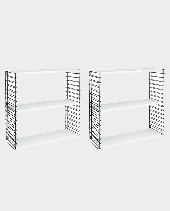 Metalowe Półki ścienne Tomado Komplet 2 Homeware Outlet