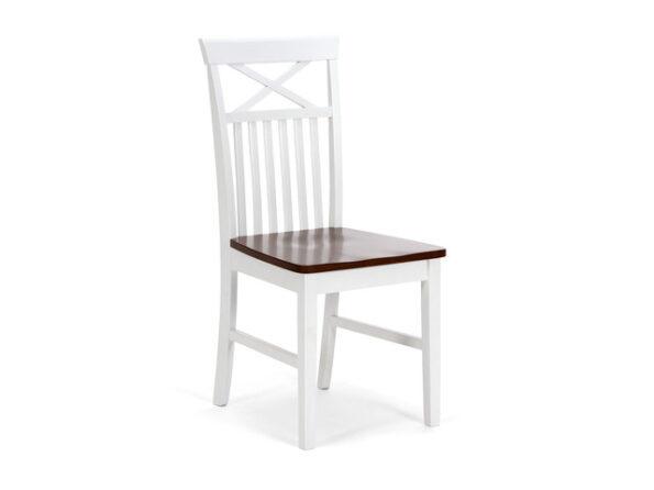 Krzesło CAPRERA Massivum – Biało / Brązowe