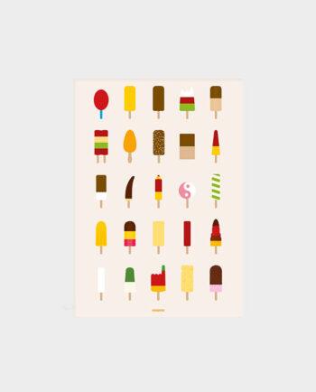 Plakat-Popsicle-die mami