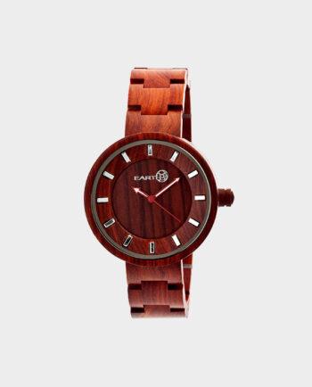 Zegarek-Korzeń-EARTH-Czerwony