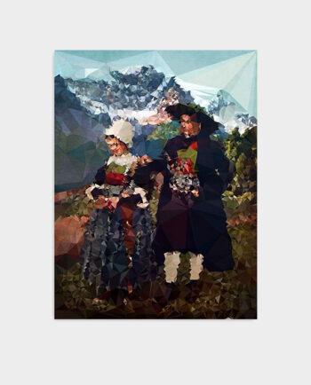 Plakat Alpenglühn-KUBISTIKA