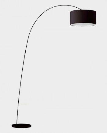 Lampa-podłogowa-Papua-Czarny-Faro-Barcelona