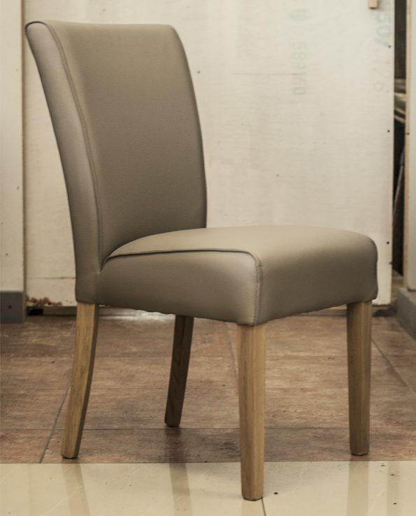 Krzesło ekoskóra – beżowe – Calland