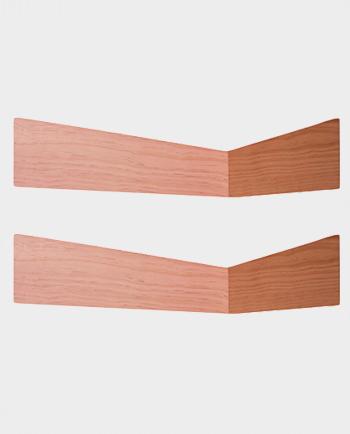 Drewniane półki ścienne Pelican 2 szt – Przygaszony róż – WOODENDOT