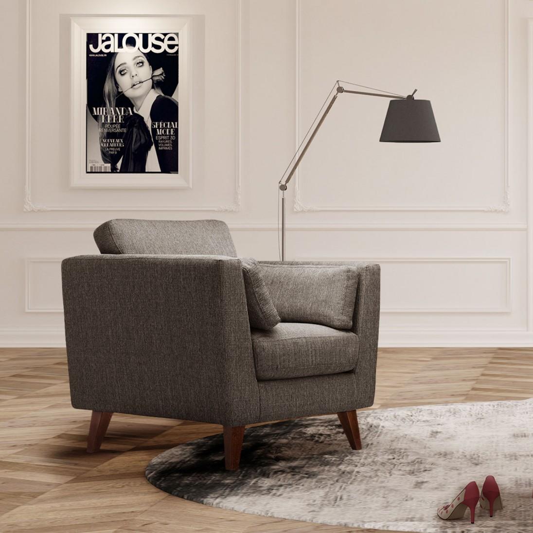 fotel elisa br zowo szary jalouse maison homeware outlet. Black Bedroom Furniture Sets. Home Design Ideas