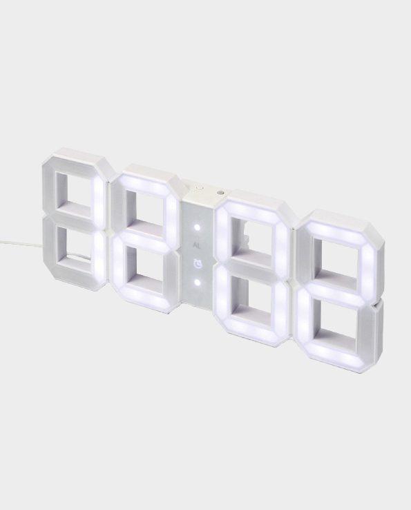 Zegar ścienny LED – Biały