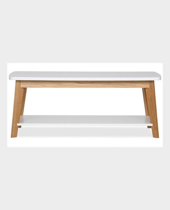 Stolik Kensal Nordic – Naturalne drewno/biały – Woodman