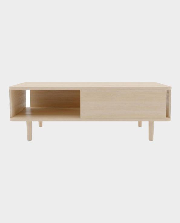 Stolik kawowy Hillen – Naturalne drewno – Woodman