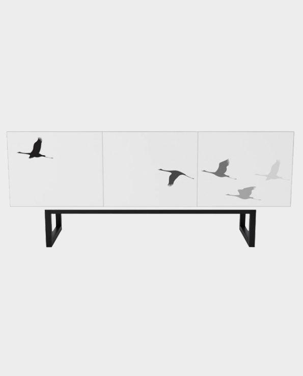Szafka Camden we wzór ptaków – Woodman