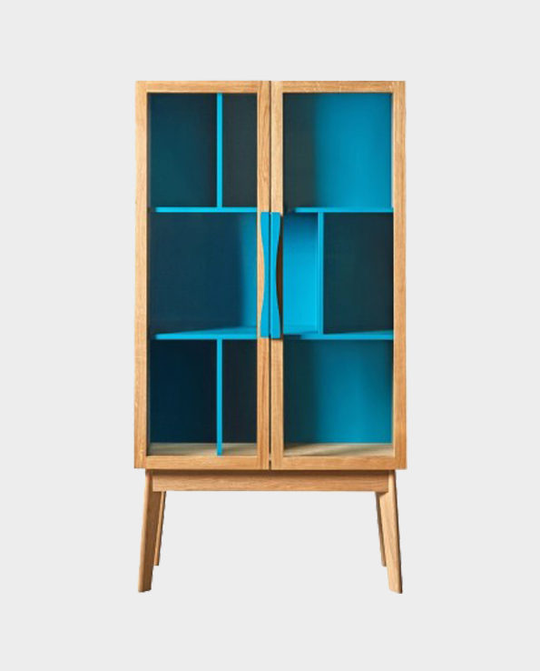 Kredens Avon – Turkus / Naturalne drewno – Woodman