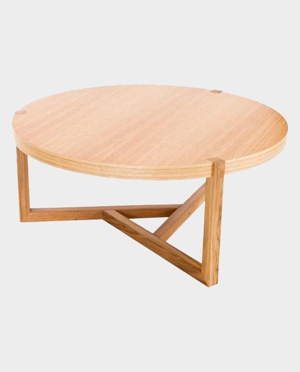 Stolik kawowy Brentwood – Naturalne drewno – Woodman