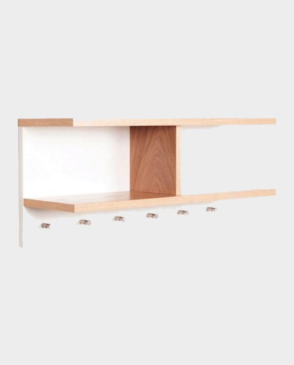 Półka z wieszakami Northgate – Naturalne drewno – Woodman