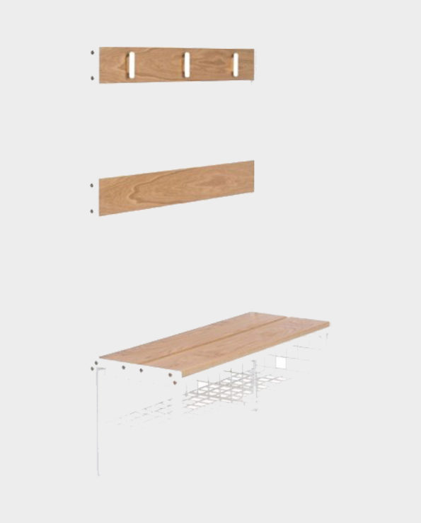 Industrialna ława – Naturalne drewno – Woodman