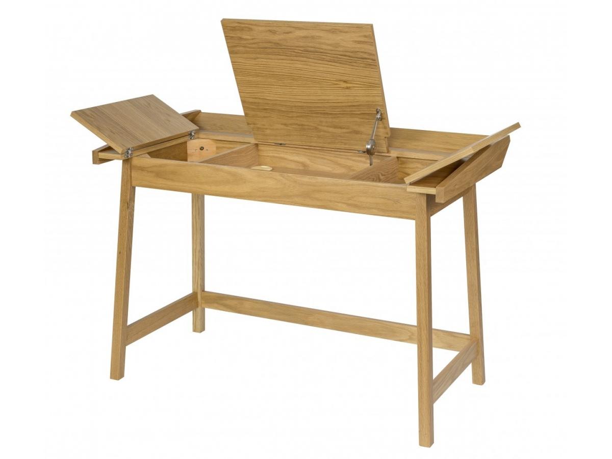 Świeże Biurko rozkładane Baron - Naturalne drewno - Woodman - Homeware Outlet MZ09
