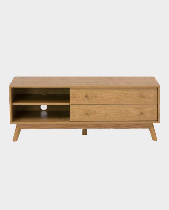 Szafka RTV Kensal – Naturalne drewno dębowe – Woodman