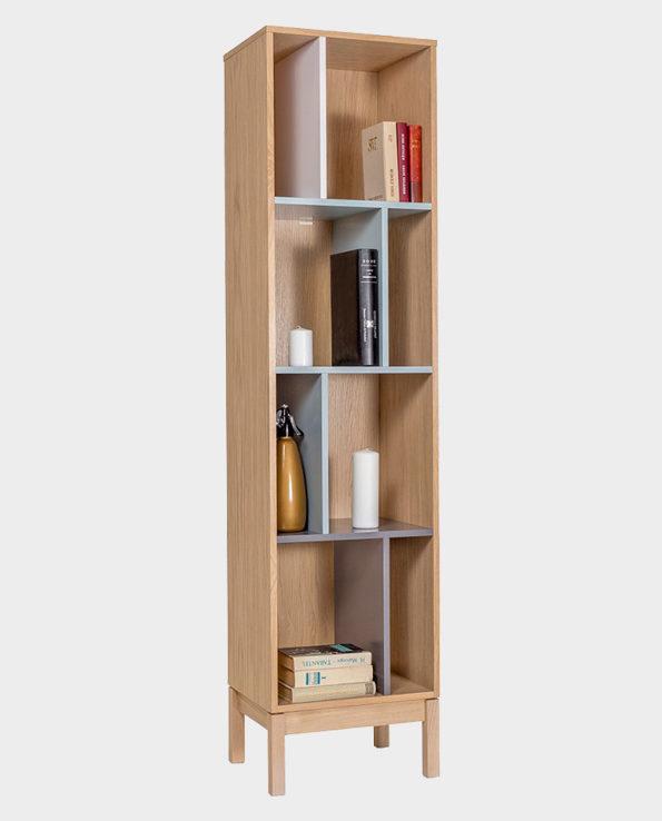 Biblioteczka / Regał Abbey – Wielokolorowa – Woodman