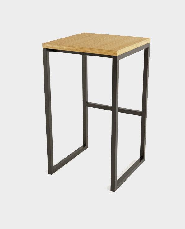 Wysoki stołek / hoker Frame – Naturalne drewno/Czarny – Woodman