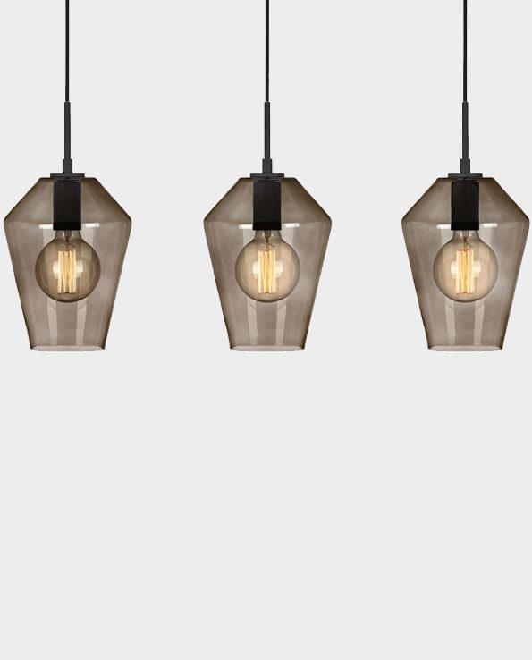 Lampa wisząca Retro – Czarna / Przydymiona – Markslojd