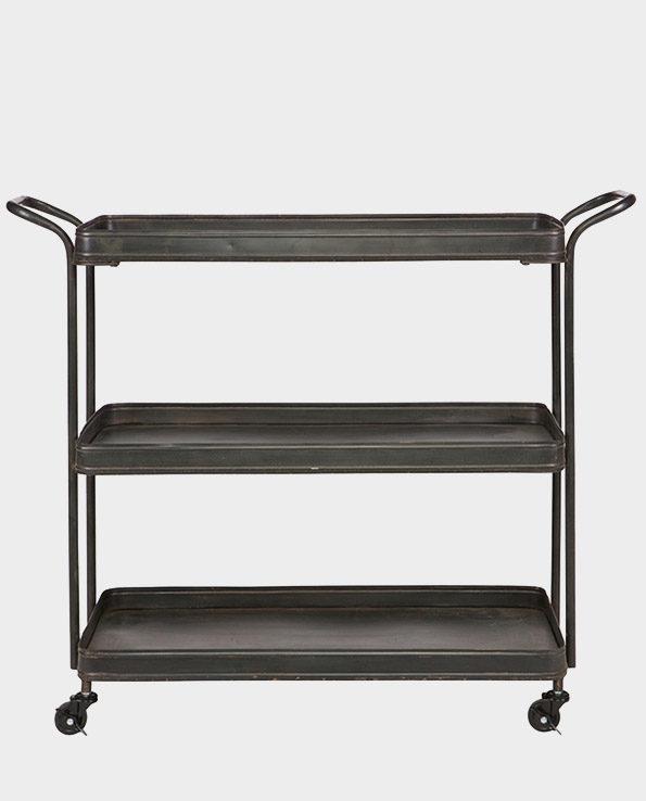 Wózek kuchenny żelazny – Czarny – De Eekhoorn