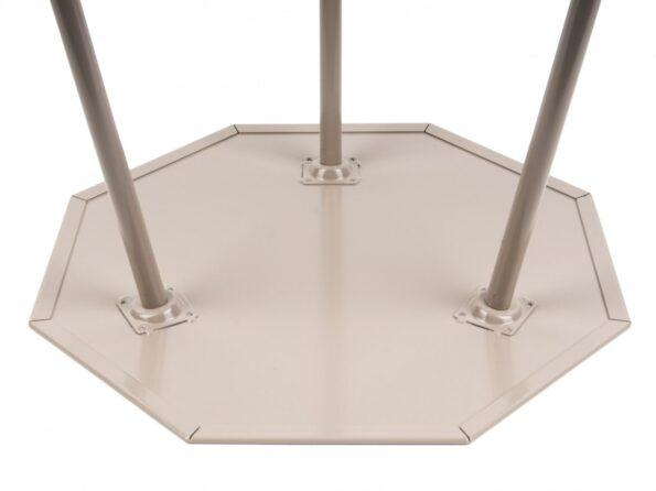Stolik kawowy Hexagon M - jasnoszary - Leitmotiv